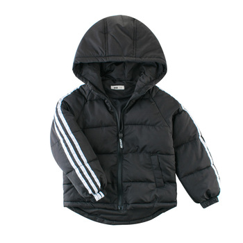 цена на Autumn Winter Warm Jackets Girls Coats Boys Jackets Baby Girls Jackets Kids Hooded Outerwear Coat Children Clothes