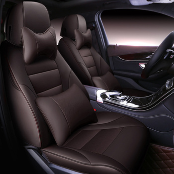 Custom Automobile Cowhide leather Car seat cover For Nissan Qashqai Sunny X-Trail Cima Fuga Cefiro murano accessorie car styling
