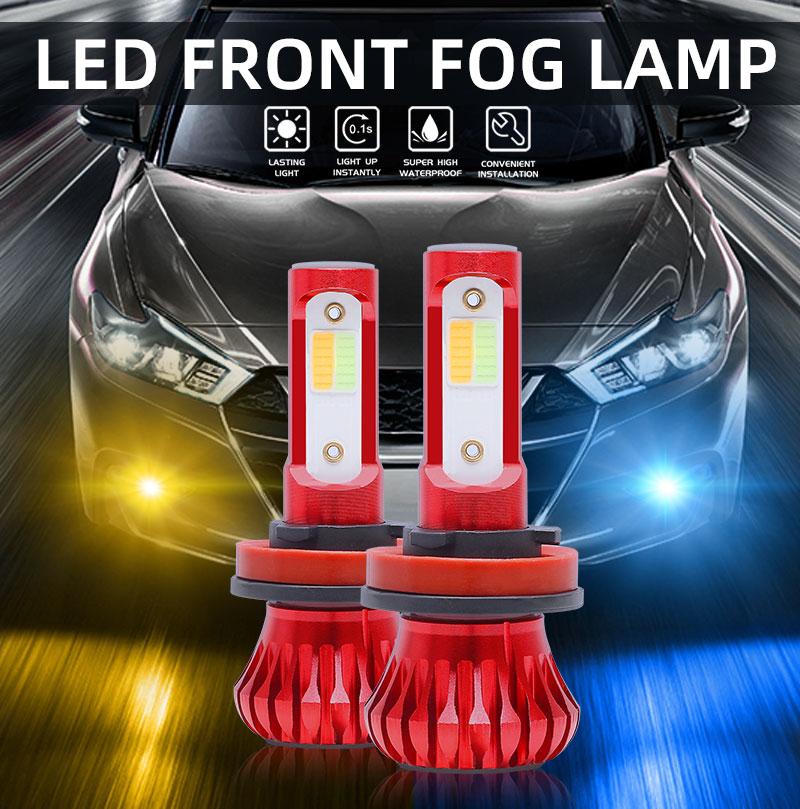 1 paar Auto Nebel Licht Lampen LED H1 H3 H7 H11 9005 9006 80W 4000LM 3000K Gelb 8000K Eis Blau 12V 24V Nebel Lichter COB Nebel Lampen