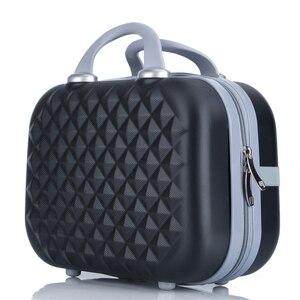 Image 5 - Professionale di bellezza ABS caso Cosmetico Per Le Donne sacchetto Cosmetico Dellorganizzatore di viaggio valigia caso di trucco Delle Donne scatola di trucco borse 14 pollici