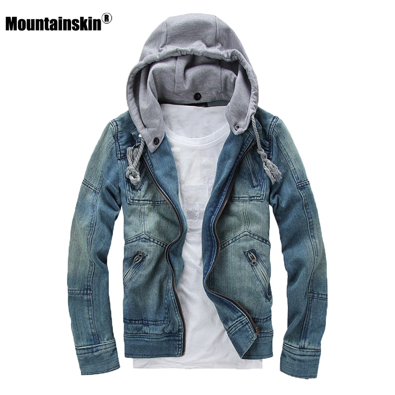 Mountainskin 2020 Men's Denim Jacket Spring Autumn Men Jean Jacket Solid Color Fashion Cowboy Coats Male Brand Clothing SA871