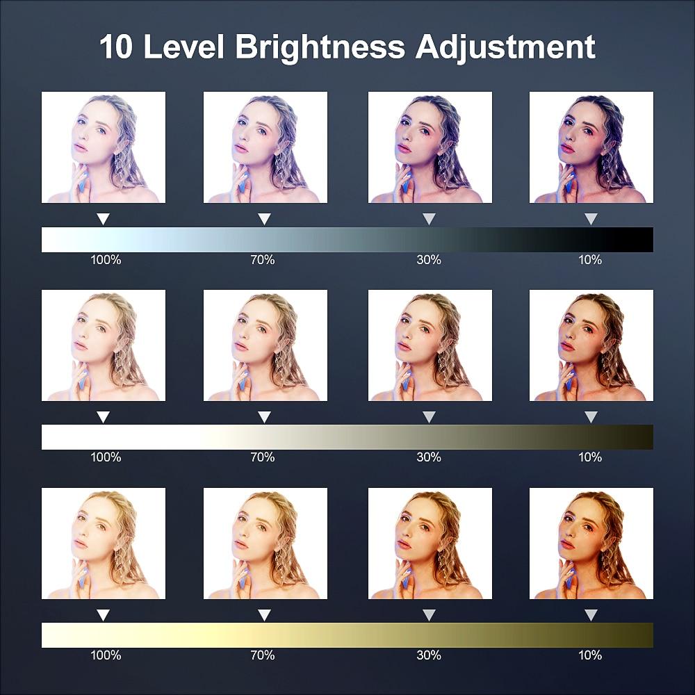 Luz de preenchimento de anel LED ajustável para selfie com câmera - Câmera e foto - Foto 4