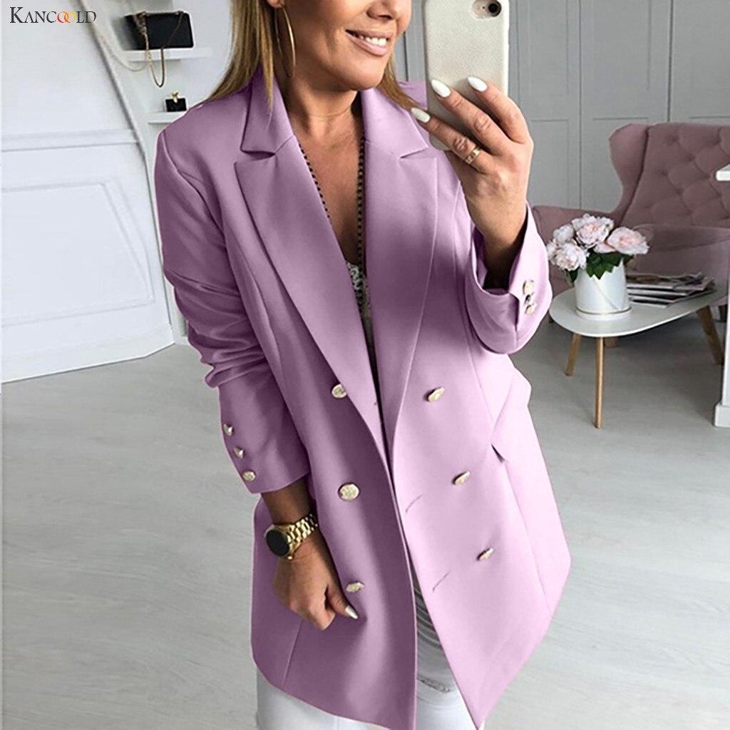KANCOOLD Coats Women Casual Long Sleeve Outwear Overcoat Sweater Cardigan Button Fashion New Coats And Jackets Women 2019Oct10