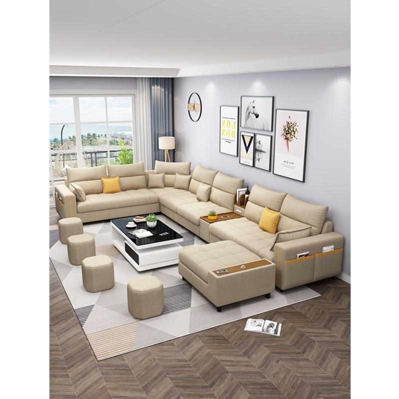 modern design corner customized fabric living room sofas 2