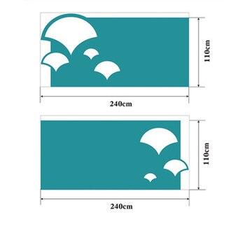 Custom Kindergarten Wall Panels Polyester Fiber Acoustic Board Sound-absorbing Decorative Ginkgo biloba 110x240cm 2pcs 40 Colors