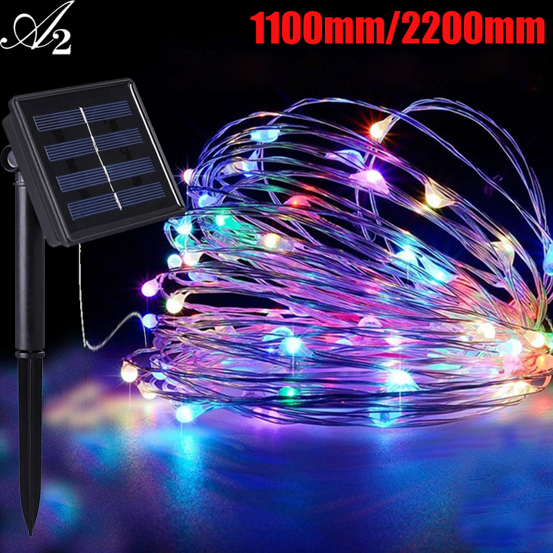 A2 Holiday Lighting Strings Christmas Decoration Led Twinkle Light Solar Power Multicolor Outdoor Party Garland Twinkling Lights