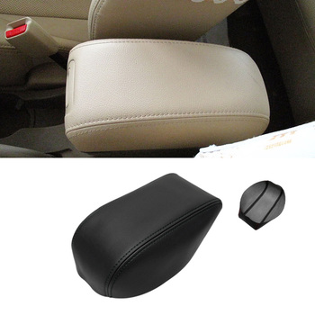Soft Leather Center Armrest Cover For Hyundai Tucson 2006 - 2013 Car Interior Center Control Armrest Box Surface Cover Trim