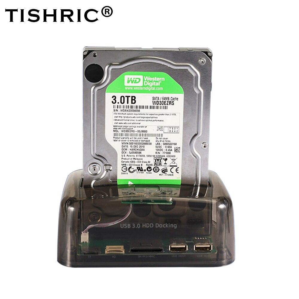 TISHRIC IDE SATA 2 In 1 HDD Docking Station HDD Dock Docking Station Hard Disk  For  Reader 2.5 3.5 Inch SSD Disk Case USB 2.0 HDD Enclosure     - title=