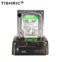 TISHRIC IDE SATA 2 In 1 HDD Docking Station HDD Dock Docking Station Hard Disk For Reader 2.5 3.5 Inch SSD Disk Case USB 2.0