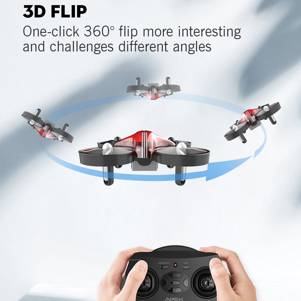 APEX Mini Drone RC Quadcopter Racing Drones Headless Mode With Hold Altitude Plan Remote Control Aircraft Toys Dron Best Gift 3