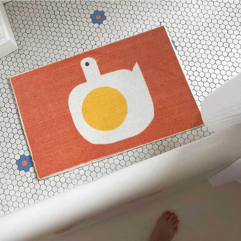 Egg Alpaca Bathroom Rug Carpet Home Living Room Nordic Tapis Toilet Kitchen Floor Mat Door Mats Anti Slip Rugs Dorm Decor