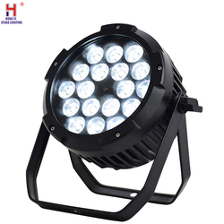 Profesjonalne oświetlenie sceny IP65 wodoodporna Led lampa Par 18x12W na zewnątrz wodoodporny światło sceniczne Led Par do mycia ścian światła
