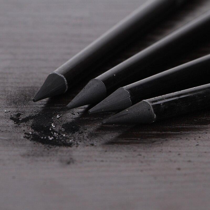 3/6 шт. профессиональные эскизные ручки из чистого углерода, набор карандашей из твердого/среднего/мягкого древесного угля, принадлежности д...