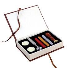 1 Набор, спасибо, воск, штамп, деревянная ручка, сделай сам, конверт, уплотнение, воск, на удачу, Классические свадебные приглашения, воск, печать, штамп, Подарочная коробка, набор