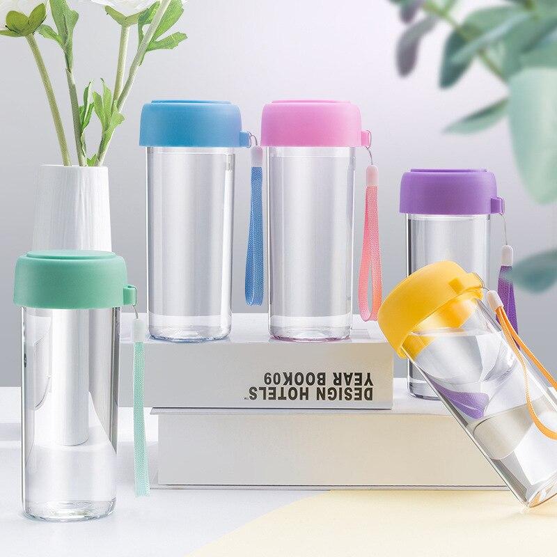 50 шт., портативная детская бутылка для воды, Подарочная рекламная чашка, заказной логотип, прозрачная Спортивная пластиковая чашка для воды,...