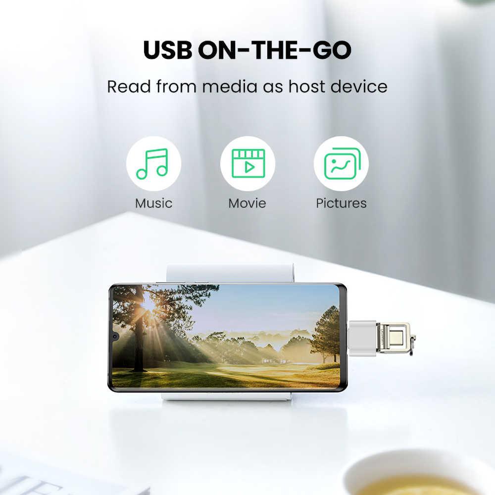 Kebidu USB 3.0 type-c Adapter OTG kabel typ C USB-C konwerter OTG USB 3.0 żeńska do typu C męski konwerter na telefony z androidem
