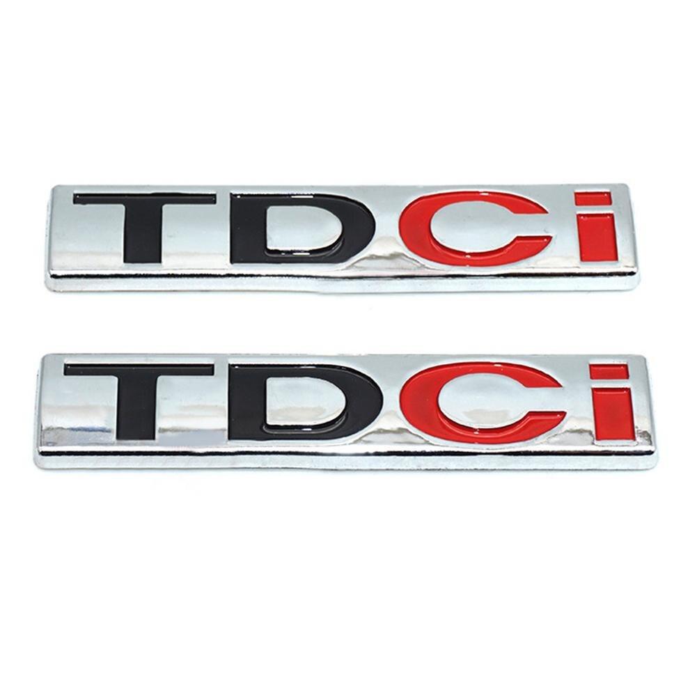 Autocollant de coffre arrière de voiture avec lettres TDCI, Badge autocollant pour Jiang Ling Ford