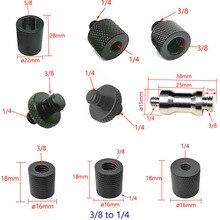"""10Pcs 1/4 """"Tot 3/8"""" 5/8 """"Tot 1/4"""" Man vrouw Draad Schroef Mount Adapter Statief schroef Plate Schroef Mount Voor Slr Camera"""