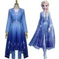 Новый костюм для косплея фильма «Холодное сердце 2 Анны», женское платье, роскошный костюм на Хэллоуин, Женский костюм для косплея