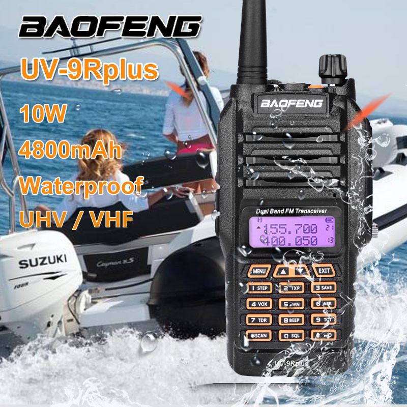 Baofeng UV-9R PLUS 10W High Power Walkie Talkie Waterproof UV 9R Amateur Ham CB Radio Transceiver Dual Band Marine Radio Station