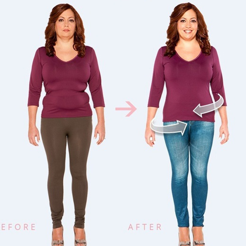 Leggings jeans caldi senza cuciture a vita alta push up elastici per donna