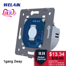 WELAIK Brand EU Stairs Wall Switch Touch Switch DIY Parts Screen Wall Light Switch 1gang 2way AC250V A912