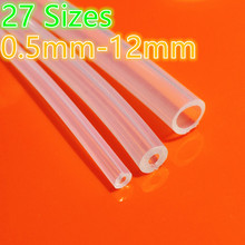 1 Meter 27 sizes 0.5mm to 12mm Food Grade Transparent Silicone Tube Rubber Hose Water Gas Pipe Dropshipping Free Shipping discount 500x500mm 20x20 silicone rubber sheet high temp commercial grade free shipping to many countries