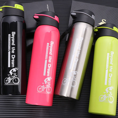 500 ML Bike Water Bottle Stainless Steel Cycling Camping Bicycle Kettle Outdoor Riding Sports Vacuum Insulated Thermal Bottles