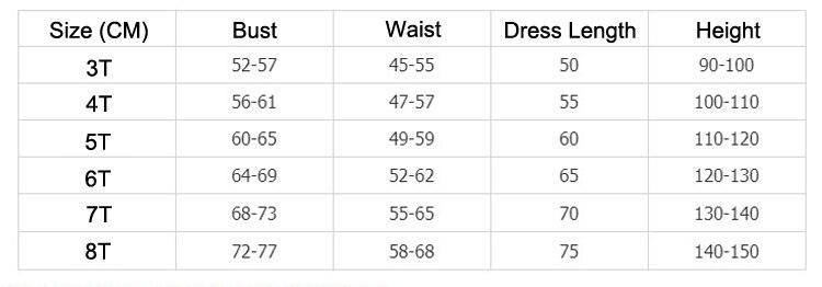 阿拉丁裙套装尺码表