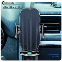 CASEIER bezprzewodowa ładowarka uchwyt samochodowy do telefonu automatyczne mocowanie szybka ładowarka do iPhone 11 Pro Qi czujnik podczerwieni uchwyt samochodowy do telefonu