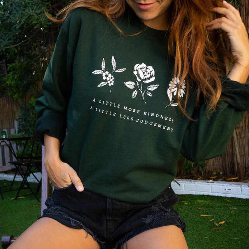 Letter Floral Printed Pattern Women Sweatshirt Autumn Winter O Neck Long Sleeve Female Pullovers 2019 Casual Lady Knitted Tops