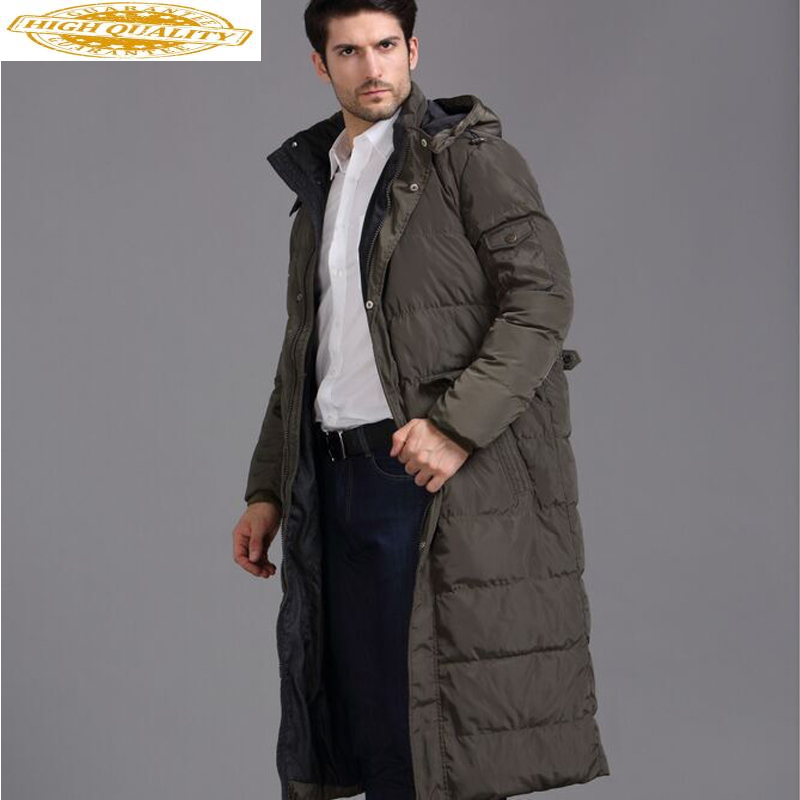 2020 Men's Down Jacket Plus Size Long Winter Jacket Men Thick Warm Windbreaker In Jackets Duck Down Coat For Men KJ788