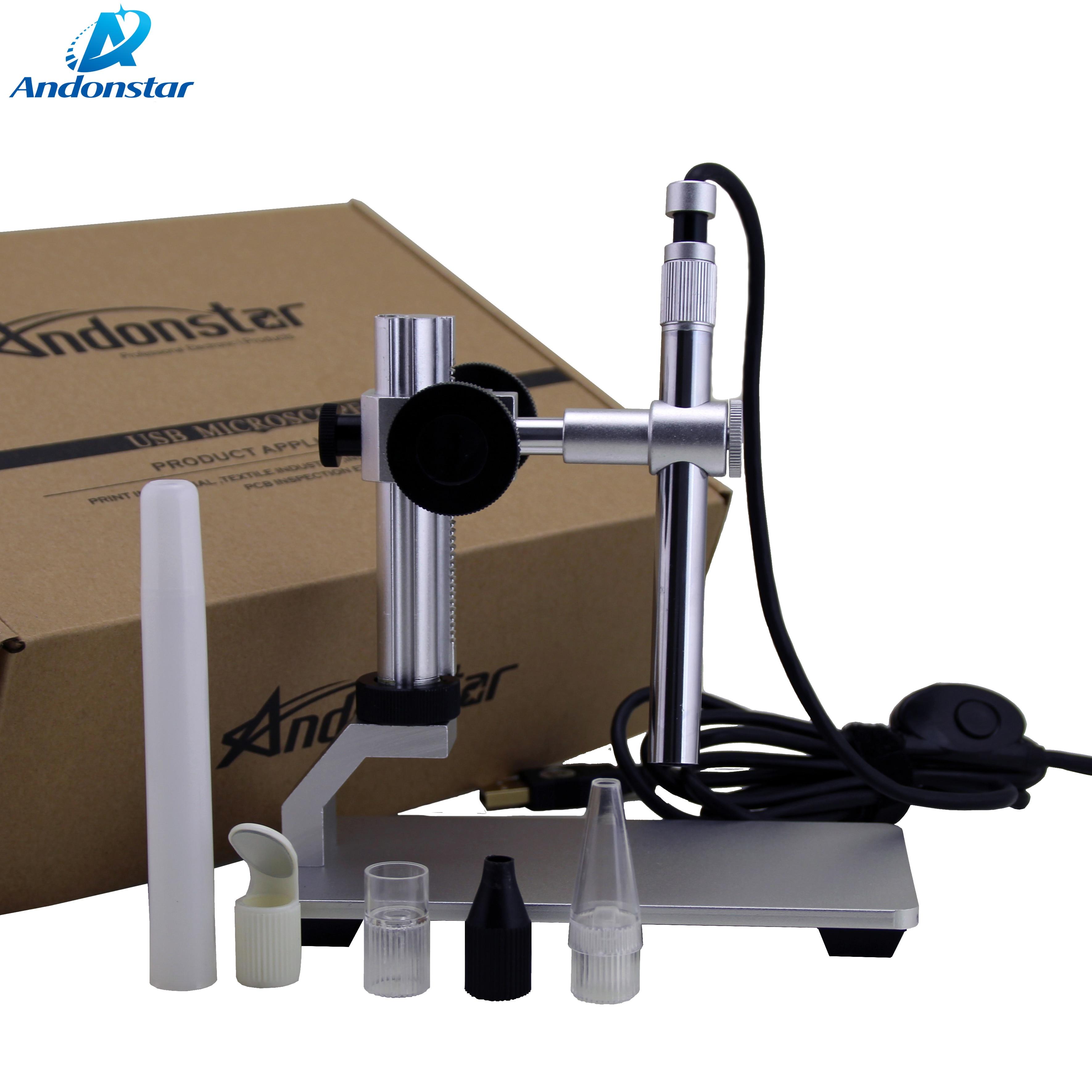 Andonstar 500X USB цифровой микроскоп V160 эндоскоп 2 мегапиксельная Лупа камера ручной микроскоп с программным обеспечением для промышленного тести