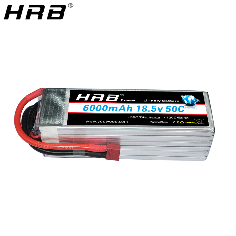 HRB <font><b>5S</b></font> <font><b>6000mah</b></font> <font><b>Lipo</b></font> Battery 18.5V EC5 XT60 TRX T Deans XT90 50C For Racing Quadcopter Airplane 4WD Cars Truck Bait Boat RC Parts image