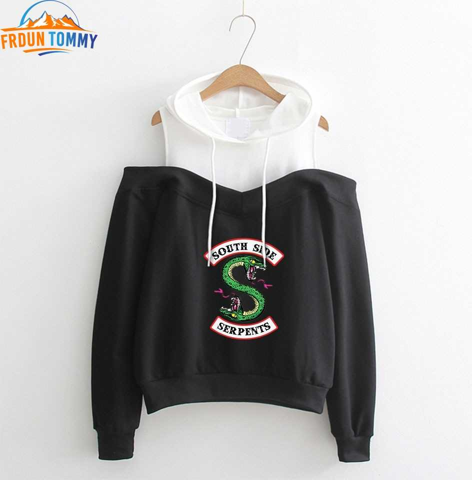 RIVERDALE hoodies Dew Shoulder Hoodie Sweatshirt 2019 south side serpents Hoodies Women southside riverdale clothes XS-2XL