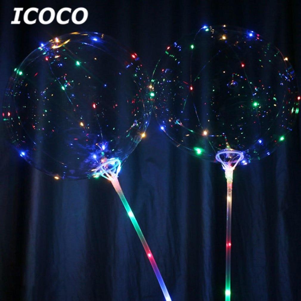 2019 New 18 Inch Romantic Luminous LED Balloon Transparent Led Ball Reusable Bubble Light For Home Party Wedding Decor Hot Sale
