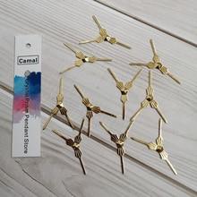 Hook Chandelier-Lamp-Part Crystal-Prisms Connectors Beads Camal 100pcs 29mm Bowtie-Pins