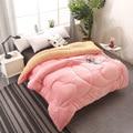 Теплые  зимние  шерстяные одеяла розового цвета  толстое одеяло/одеяло из овечьей шерсти  наполнитель из ткани king queen AB  Кашемировое одеяло