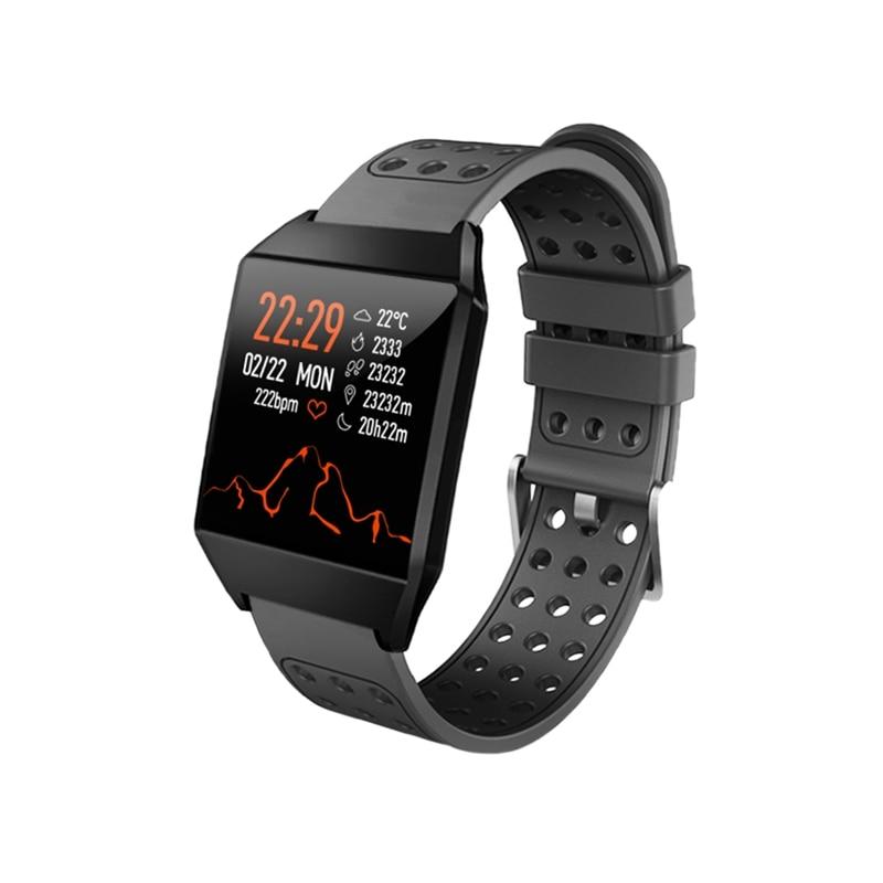 Smart Watch 1.3 Inch Color Press Screen Bluetooth 4.0 Message Heart Rate MonitorRemind Blood Pressure IP67 Waterproof Watch