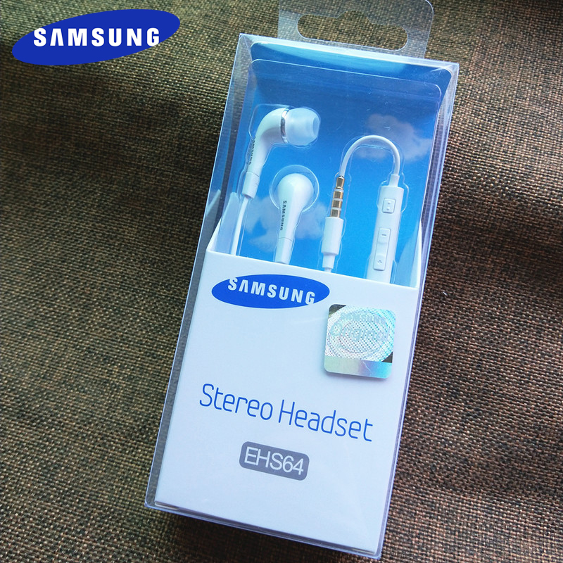 Samsung Earphones <font><b>EHS64</b></font> Headsets With Built-in Microphone 3.5mm In-Ear Wired Earphone For Galaxy S10 S9 S8 Plus s10e A50 A60 A70 image