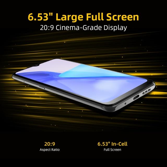 [World Premiere] UMIDIGI Power 5 Global Version Smartphone Android 11 Helio G25 16MP AI Triple Camera 6150mAh 6.53'' Full Screen 6