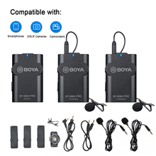BOYA BY WM4 Pro Wireless system  Condenser Microphone Lavalier Lapel  for Camera DV Smartphone for live streaming,vlogging