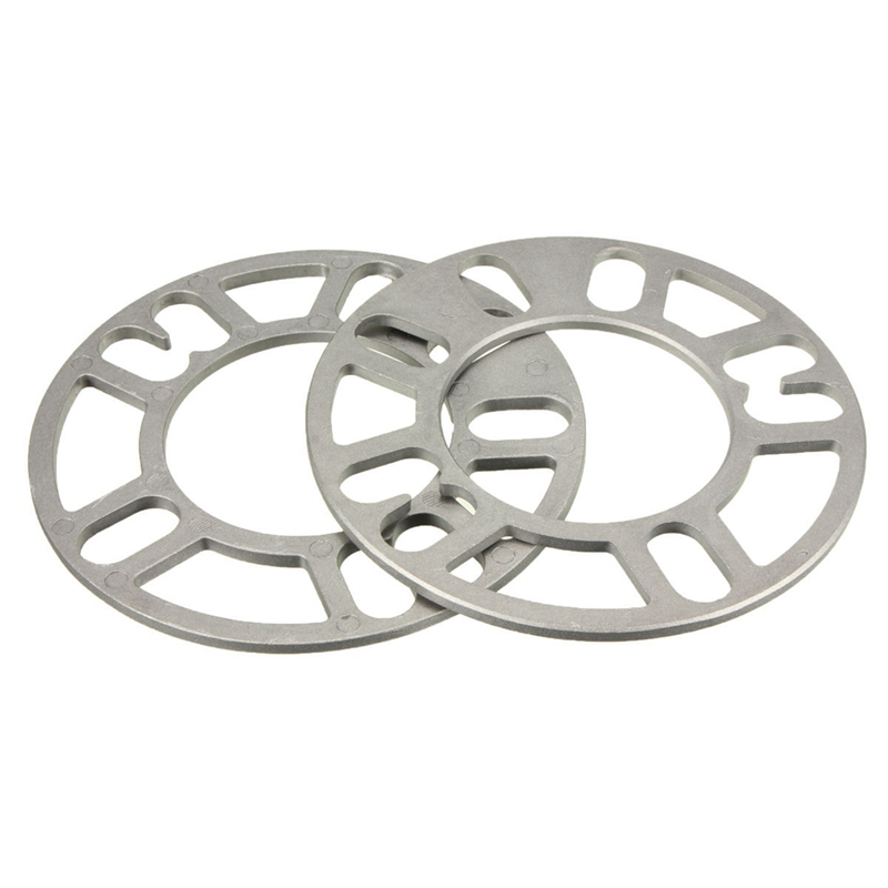 2x Universal 5MM Alloy Aluminum Wheel Spacers Adaptor Shims Plate 4/5 Stud Silver