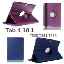 Чехол для Samsung Galaxy Tab 4 10,1 T530/T531/T535 чехол для планшета из искусственной кожи смарт-чехол с подставкой 360 Вращающийся чехол для планшета+ ручка