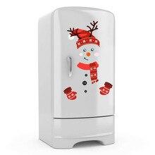 Christmas Wall Sticker Xmas Snowman Refrigerator Stickers Merry Christmas Feliz Navidad Decor For Home 2022 Happy New Year Decor