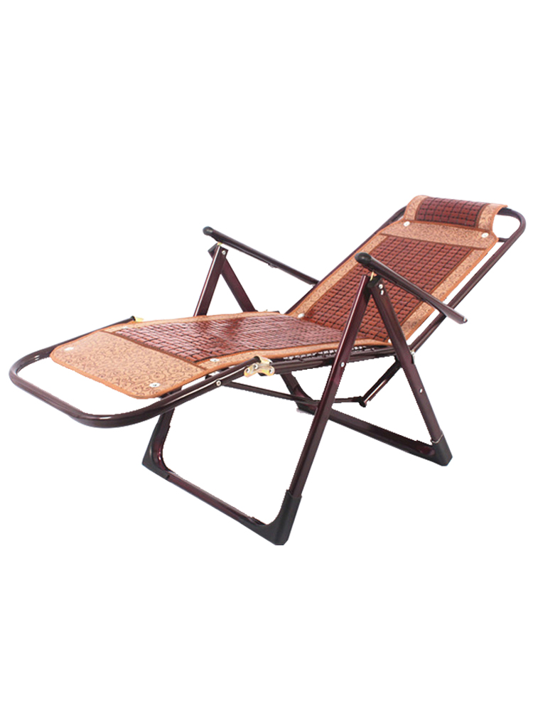 Summer Recliner Reinforced Adult Folding Recliner Lazy Office Lunch Break Balcony Chair Old Man Chair Bamboo Chair