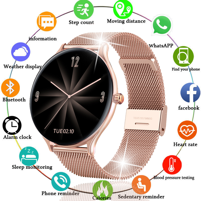 2020 fashion Color Screen Digital Watch Women men Sport Heart Rate Blood Pressure Waterproof Electronic LED watch Bluetooth Hour