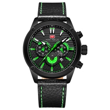 MINI FOCUS Watch Men Waterproof Black Leather Strap Luxury Brand Fashion Sport Clock Mens Wristwatches Quartz Relogio Masculino