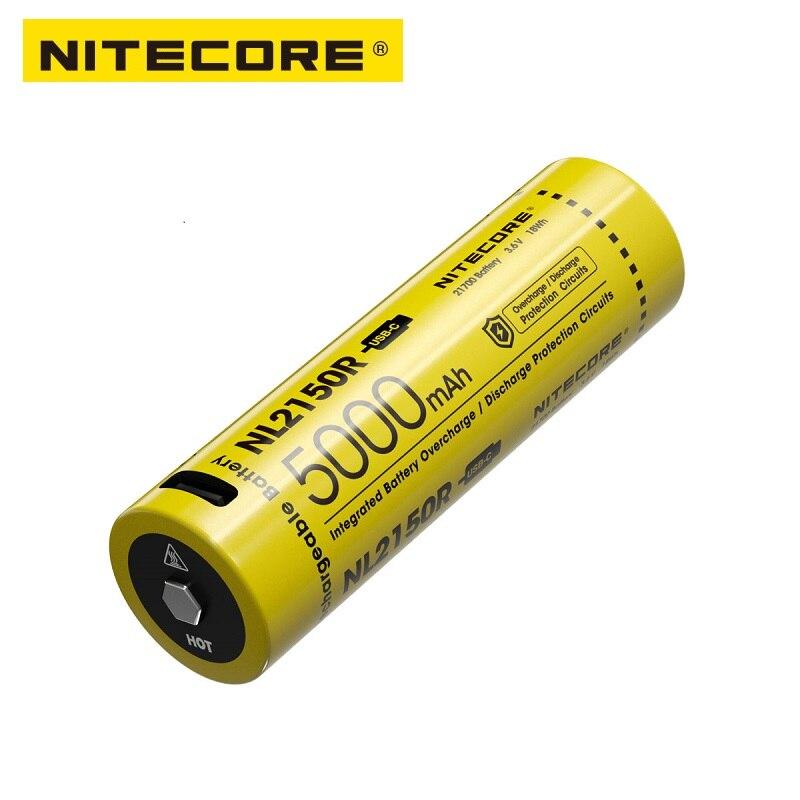 NITECORE NL2150R 5000mAh USB-C Rechargeable 21700 Battery