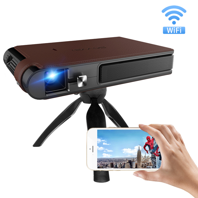 S6W DLP MINI Projektor Aufladbare WIFI Tragbare 3D Volle Hd Beamer für 1080P Smart Mobile Home Cinema Theater Miracast airplay